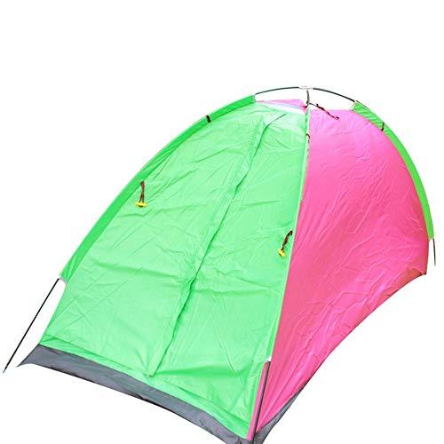 Excursión la Tienda Carpa del Alpinismo Que acampa al Aire Libre Tienda de campaña Sola Tienda protección UV Senderismo Pesca al Aire Libre (Color : Green Multi-Colored, Size : One Size)