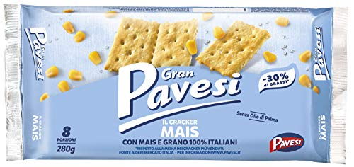 Gran Pavesi Cracker al Mais, Senza Olio di Palma - 8 pacchetti (280g)