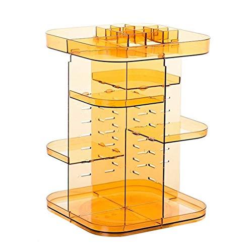 ADSE Aufbewahrungsbox - 360 & deg; Rotierender Make-up-Organizer Verstellbarer Karussell-Spinnhalter Lagerregal Kunststoff-Make-up-Caddy mit großer Kapazität (Farbe: B)