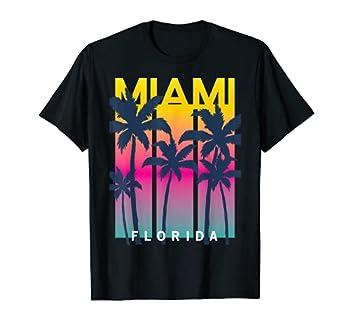 Cool Miami Florida Graphic Design Tees I Love Miami Miami T-Shirt