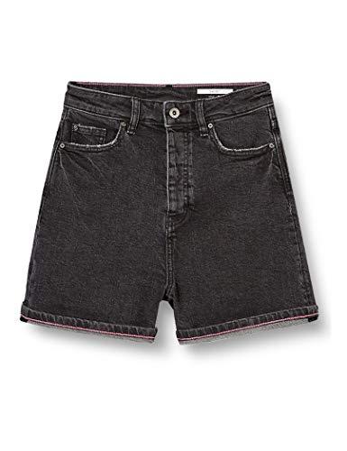 edc by ESPRIT Damen 040CC1C305 Jeans-Shorts, 912/BLACK MEDIUM WASH, 26