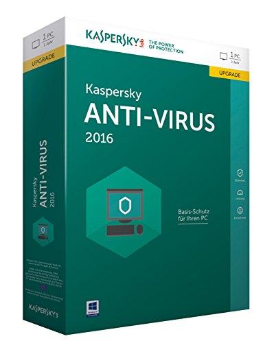 Kaspersky Anti-Virus 2016 Upgrade - 1 PC / 1 Jahr (Lizenzkarte)