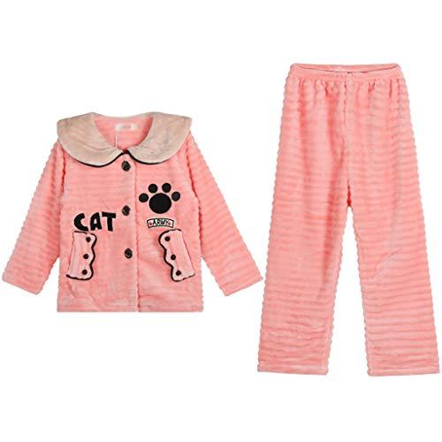 YWSZJ Baby Boy Boy Ropa Ropa Pijamas Sets Pijamas Niños Cálido Franela Fleece Cloon Ropa de Dormir para niños Traje de Invierno Otoño (Size : 155cm)