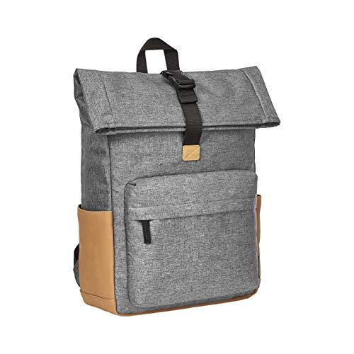 AmazonBasics – Rolltop-Rucksack mit Diebstahlschutz, schwarz