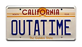 Celebrity Machines Back to The Future   Delorean   Outatime   Metal Stamped Vanity Prop License Plate (B00DHZLCB6)   Amazon price tracker / tracking, Amazon price history charts, Amazon price watches, Amazon price drop alerts