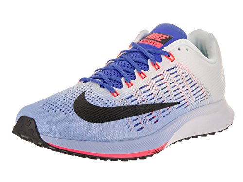 Nike Women's Air Zoom Elite 9 Running Shoe Aluminum/Black-White-Medium Blue 6