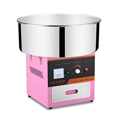 Forkwin Cotton Candy Machine 7 Servings/Min Cotton Candy Maker Stainless Steel Candy Floss Machine Commercial