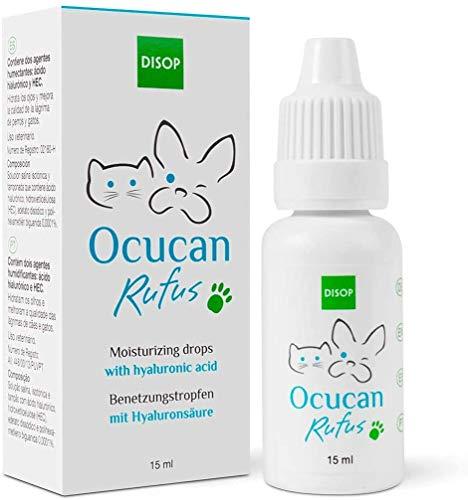 Ocucan Augentropfen mit Hyaluronsäure für Hunde und Katze. Augenbefeuchtung beim Haustiere, 15 ml
