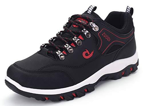 Hombre Zapatillas de Senderismo Montaña Calzado de Trekking Al Aire Libre Antideslizantes Zapatillas de Escalada Impermeable Sneakers 46EU