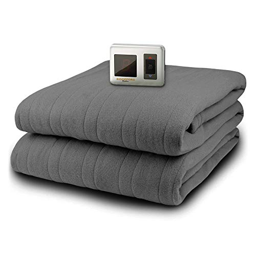 MicroPlush Electric Blanket with Controller, Gray, Twin