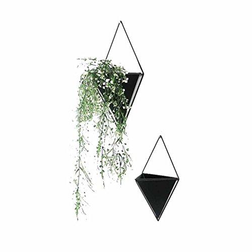 Myhj-Flower stand Hängen Pflanzer Vase Blumentopf Pflanze Stehen Rack Korb Geometrische Wand Container Dekoration Display Wohnzimmer Drinnen draußen (schwarz) (größe : S)