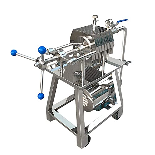 INTSUPERMAI Plate and Frame Filter Disc Stainless Steel Slag Pressure Filtration Machine With 10 Pieces Filter Plate (Model150 220V)