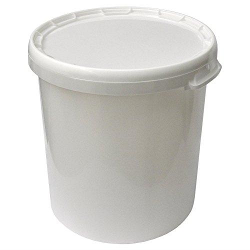 30 Liter Hobbock mit Deckel, weiß, stapelbar, mit Lebensmittelfreigabe
