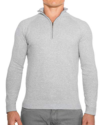 Gray Fitted Sweater for Men's