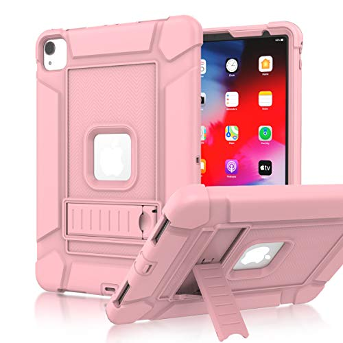 LEDNICEKER iPad Pro 11 Case 2020/2018, iPad Pro 11 inch case, Heavy Duty Shockproof Rugged Full-Body Drop Protection Stand Case Cover for iPad Pro 11 2020 (2nd Generation)/2018 (1st Generation)-Pink