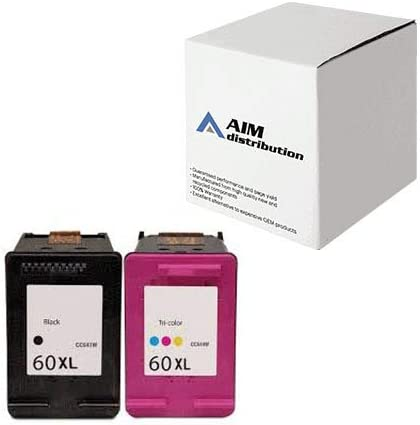 AIM Compatible Replacement for HP NO. 60XL Inkjet Combo Pack (Black/Color) (N9H59FN) - Generic