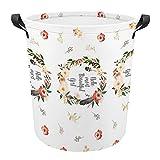 Hola más hermosa chica pañales de tela Oxford cesta de lavandería, bolsa grande de lavandería, cesta de lavandería, 42 x 44 cm