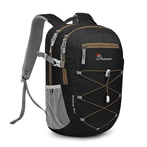 MOUNTAINTOP 22 litros Mochila de Trekking para Hombres Mujeres Mochila Ultraligera para Deportes al Aire Libre Mochilas de Senderismo Mochila Casual de Viaje Impermeable