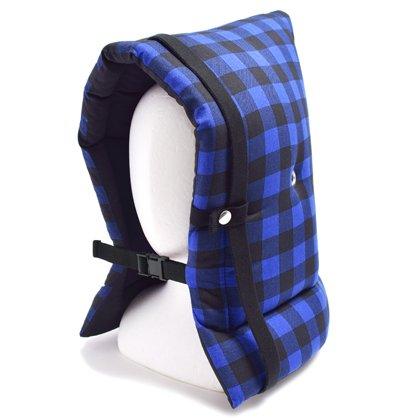 防災頭巾 子供用 バッファローチェック・ブルー N4424800