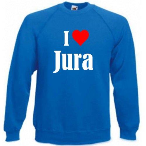 Reifen-Markt Sweatshirt I Love Jura Größe 2XL Farbe Blau Druck Weiss