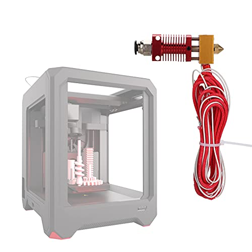Built-in Extruder Hotend Kit, 0.4mm with Abs and Metal 3D Printer Accessories New CR10 red Extrusion Head kit External Threaded Connection (Red)