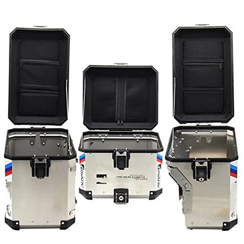 エンジン For B-M-W R1200GS LC/ADV 13-17 F800GS F700GS 08-17 Caja de Equipaje Contenedor Interior Caja de Cola Tronco Lado Saddlebag Top Bag Inner Repuestos de Motocicleta (Color : Set)
