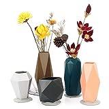 Vaso per fiori in silicone infrangibile per bambini, elegante vaso decorativo per decorazione della casa, soggiorno, tavolo, casa, ufficio, centrotavola, perfetto come regalo di nozze, set di 5 Retro