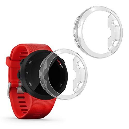 kwmobile 2 Pack de Fundas Compatible con Fitness Tracker Garmin Forerunner 45 - Case en Transparente