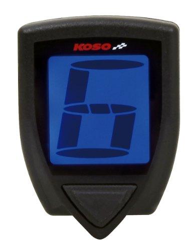 KOSO Ganganzeige KOSO GEAR für digitale Eingangssignale von Tacho-, und Drehzahlmesser, 7 Gänge + Neutral, mit Gangwec