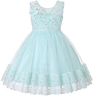 Ashtray - Children Kid GirlsSleeveless Flowers Bows Lace Silk Yarn Princess Dress Skirt Floral Tutu Formal Princess Dress Clothes
