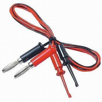 テイシン電機 ICテストリード 0.3SQ ICテストクリップ/バナナクリップ付き 赤/黒 1m TLA-106