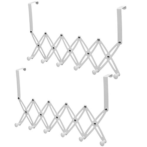 Clothes Hooks 6 Hooks No Drilling Wall Hooks Door Shelf Towel Hooks Stainless Steel Adjustable Hat Hooks Coat Hooks Hat Shelves Towel Holder for Bathroom Kitchen Office Toilet Shopping Centre