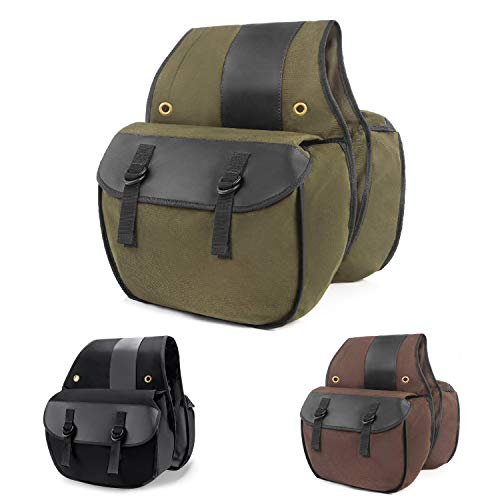 Best Bargain Nomad USA Quick-Easy Universal Fit Throw Over Motorcycle Canvas Biker Cargo Saddlebags ...