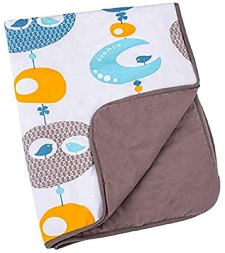 Babymoov Couverture Doomoo Bird Blue Grand Format pour Bébé