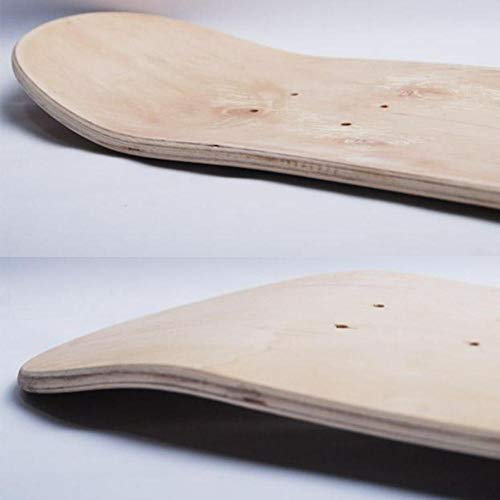 Melo-bell Blank Skateboard Decks for DIY 31X8,8inch 8-Layer Maple Blank Double Concave Skateboards Natural Skate Deck Board Skateboards Deck Wood Maple.
