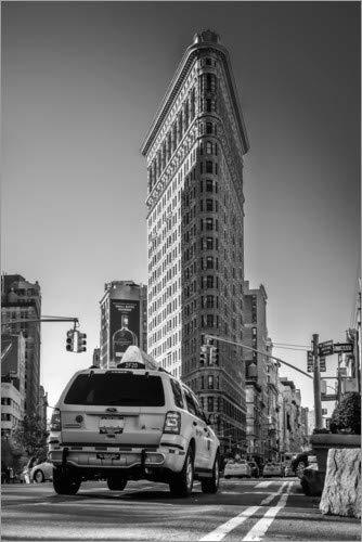 Posterlounge Acrylglasbild 20 x 30 cm: Flatiron-Gebäude in New York City von Sören Bartosch - Wandbild, Acryl Glasbild, Druck auf Acryl Glas Bild