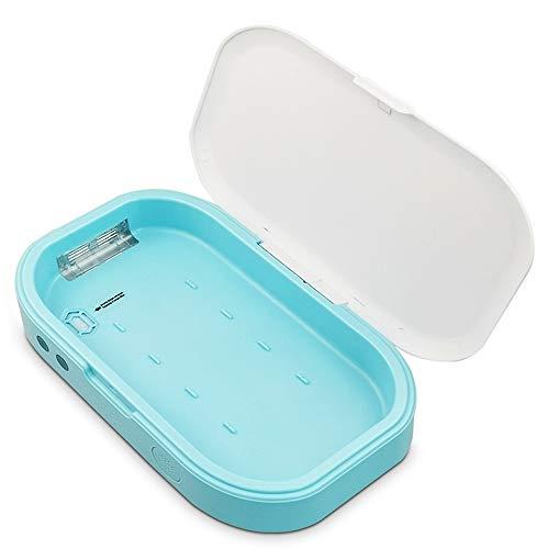 WDNM UV Handy Sterilisator Smartphone Desinfektionsgerät UV Smartphone Sterilisator Box Handy Reiniger UV Handy Desinfektionsmittel Mit Aromatherapie Funktion Für Ios Android Handy Kopfhörer