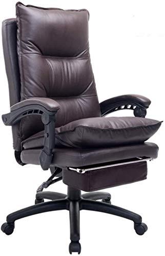 Silla de Oficina Las sillas de escritorio Silla de oficina con respaldo alto Silla Computer Gaming silla del jefe Silla giratoria Silla reposapiés Jefe Soporte lumbar ( Color : Chocolate Color )