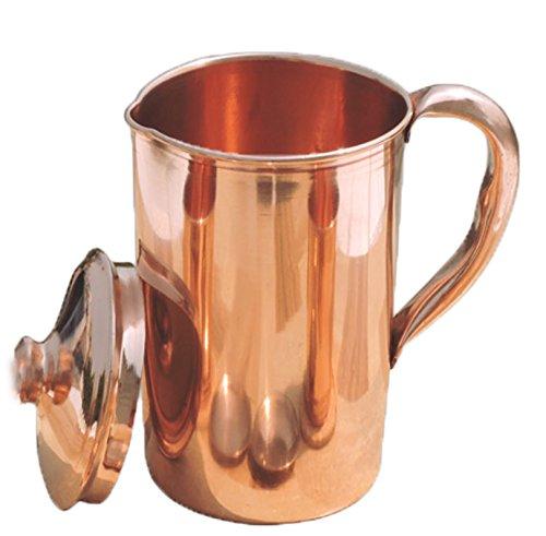 Cuivre pur martelé Pichet à eau | Pichet de cuivre pour Ayurveda Santé Avantage Smooth Finished