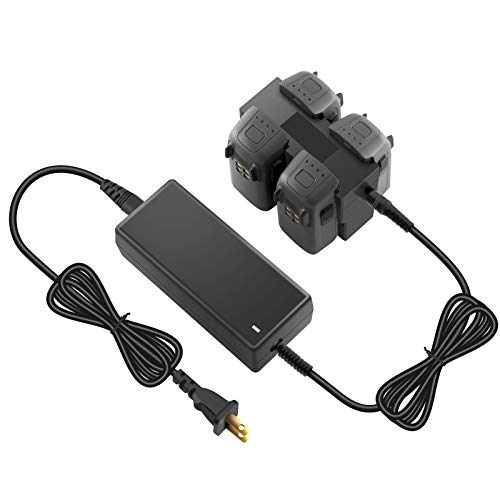 Hanatora Battery Charger with LCD Display for DJI Spark Drone,4 in 1 Rapid Multi Parallel Charging Hub with LIPO Bag Accessories