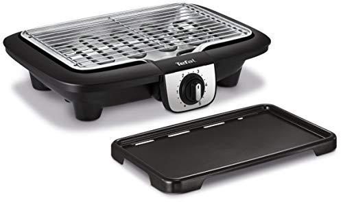 Tefal Easy Grill 2en1 Barbecue électrique de table, Plaque plancha inclus, Puissant 2100 W, Jusqu'à 2 fois moins de fumée BG930812