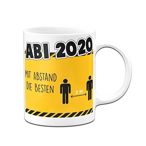 Tassenbrennerei Tasse mit Spruch Abi 2020 mit Abstand Abitur - Spülmaschinenfest (Weiß)