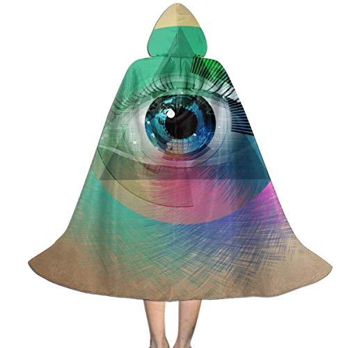 Amanda Walter Nios Dibujo de Ojos Artes geomtricas abstractas Capa con Capucha Capa de Halloween Cosplay