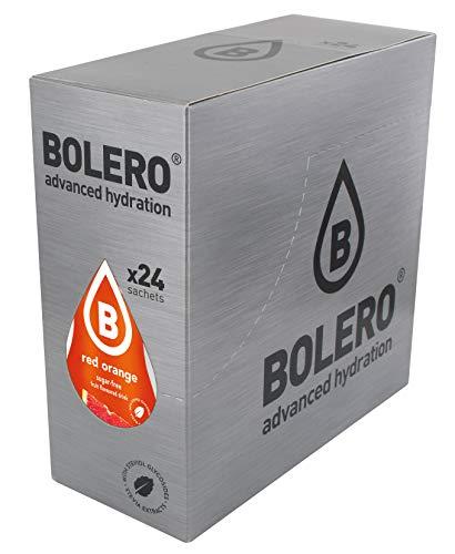 Bolero Drinks 24 bustine da 9 grammi gusto ARANCIA ROSSA - Preparato istantaneo per Bevande con Stevia e Vitamina C e Senza Zucchero