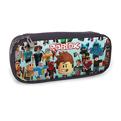 Robloxs Pencil Case Multifunction Leather Pencil Case Stationery Pencil Pen Case Storage Bag.