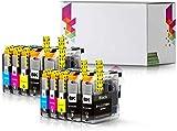 10 Merotronic Druckerpatronen Kompatibel für Brother LC223 LC223XL DCP-J4120DW J562DW MFC-J4420DW MFC-J5320DW MFC-J5620DW MFC-J880DW J480DW J680DW