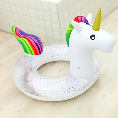 Boxgear Inflatable Float, Glitter Sequin Animal Pool Floats, Swimming Pool Ring, Pool Inflatables for Kids and Adults, Pool Toys Inflatable Unicorn Pool Float, 36 Inch Water Float (36 Inch)