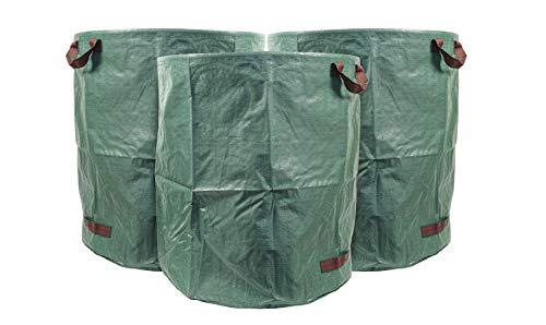 mgc24® Gartensack 272l - Stabiler Gartenabfallsack aus robustem Polypropylen Gewebe 150 g/m² - 3er-Set