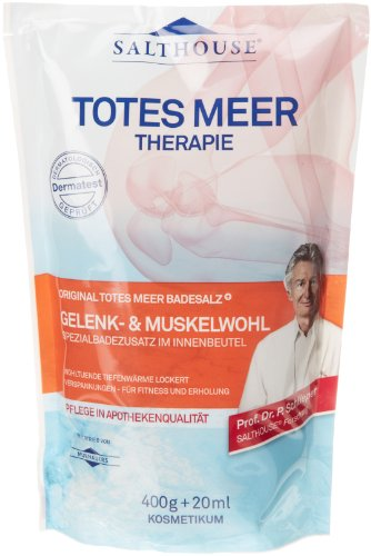 Murnauer - Salthouse Salthouse Totes Meer Badesalz Gelenk und Muskelwohl, 2er Pack (2 x 400 g)