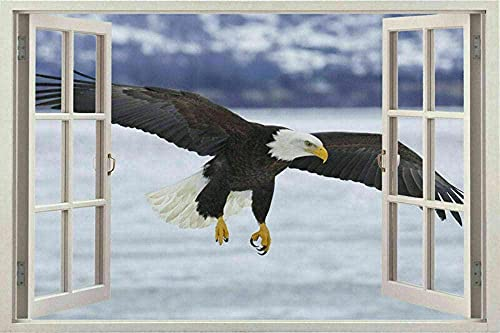 Enorme animal pájaro águila pájaros ver pegatinas de pared mural película calcomanía papel tapiz - 3D - calcomanía arte mural -PegatinasDe Pared Calcomanía Decoración - 50x70cm